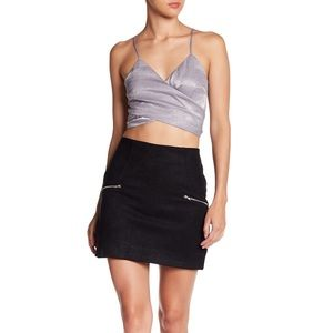 HYFVE | Faux Zip Pocket Skirt - Black | Size S